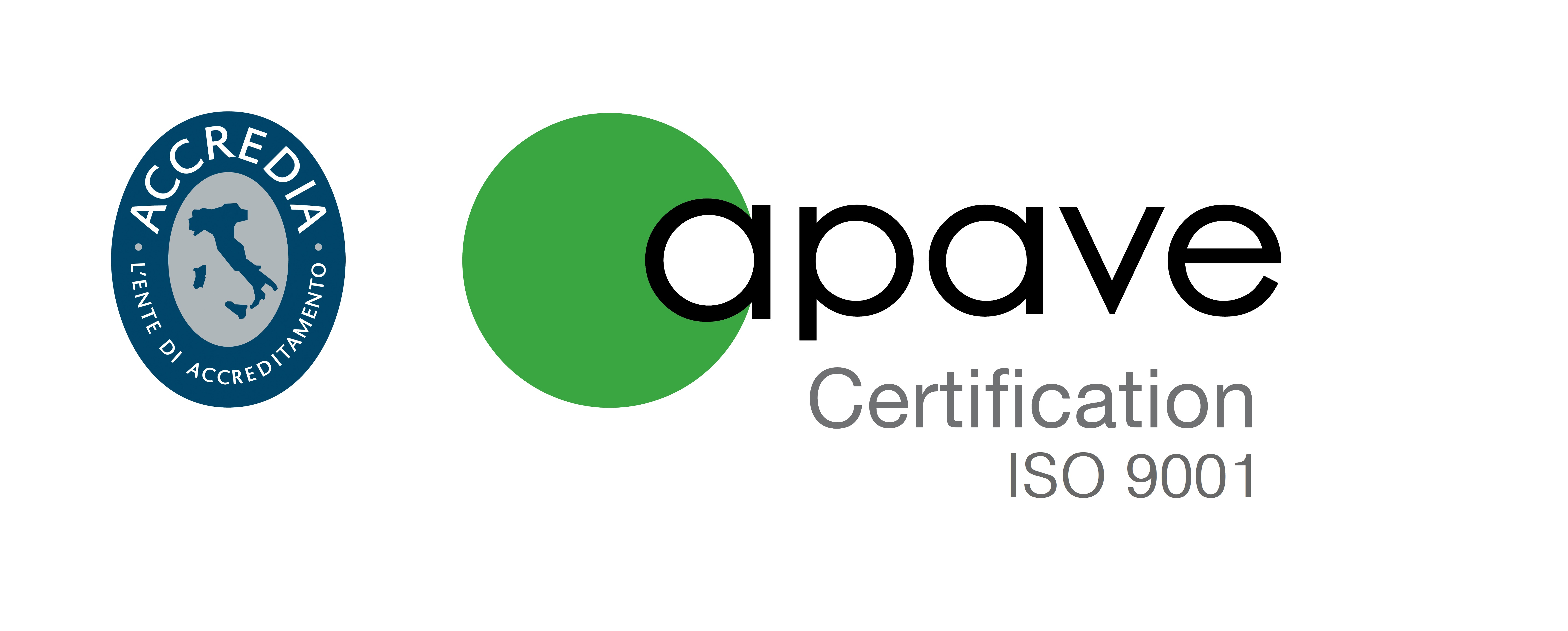 Apave certification italia ISO 9001 Accredia